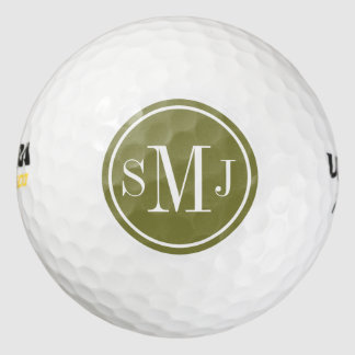 Personalized Monogram and Woodbine Frame Pack Of Golf Balls