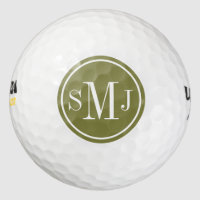 Personalized Monogram and Woodbine Frame Golf Balls