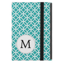 Personalized Monogram Aqua Double Rings Covers For iPad Mini