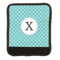 Personalized Monogram aqua double rings pattern Handle Wrap
