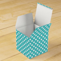 Personalized Monogram Aqua Polka Dots Pattern Favor Box