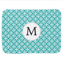 Personalized Monogram aqua rings pattern Swaddle Blanket