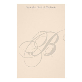 Personalized Monogram B Stationery