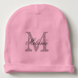 79437a8e350e6b Personalized monogram baby beanie hat for infants