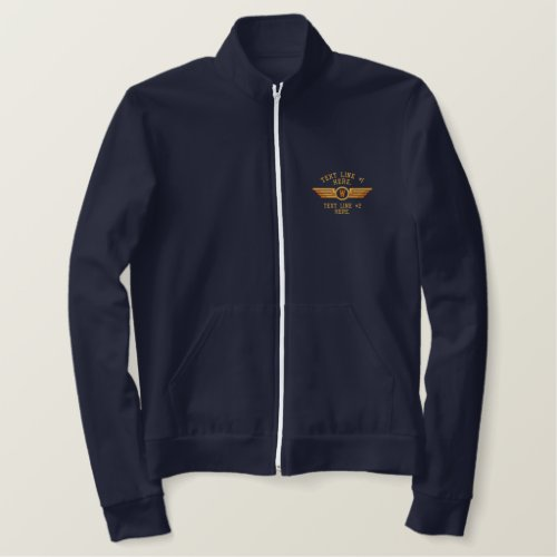 Personalized Monogram Badge Pilot Wings Embroidered Jacket