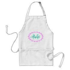 Personalized Monogram Baking Apron For Women at Zazzle