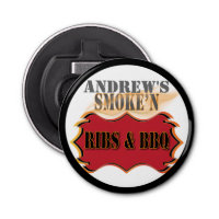 Personalized Monogram Barbecue or BBQ Bottle Opener