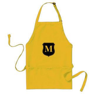 Personalized monogram BBQ apron for men