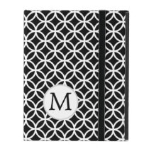 Personalized Monogram Black Double Rings iPad Cases