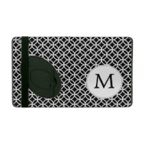 Personalized Monogram Black Double Rings iPad Cover