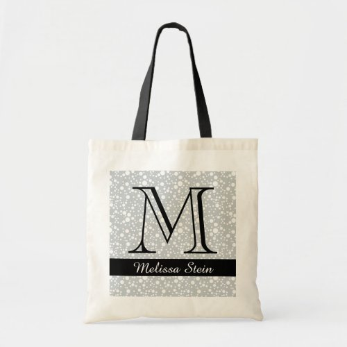 personalized monogram black tote bag