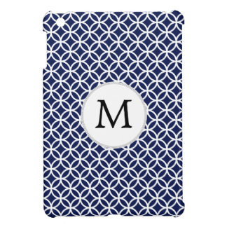 Personalized Monogram Blue Double Rings Cover For The iPad Mini