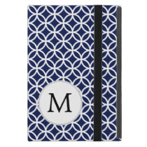 Personalized Monogram Blue Double Rings iPad Mini Cases