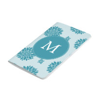 Personalized Monogram Blue Floral pattern Journal