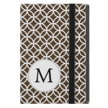 Personalized Monogram Brown Double Rings iPad Mini Case