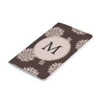 Personalized Monogram Brown Floral Pattern Journal