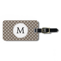 Personalized Monogram Brown rings pattern Bag Tag