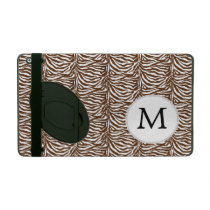 Personalized Monogram Brown Zebra Stripes iPad Case