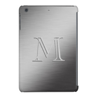 Personalized Monogram Brushed Metal Looking iPad Mini Retina Case