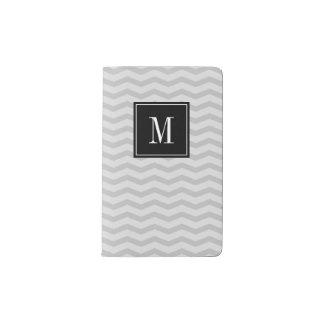 Personalized monogram chevron moleskine notebook