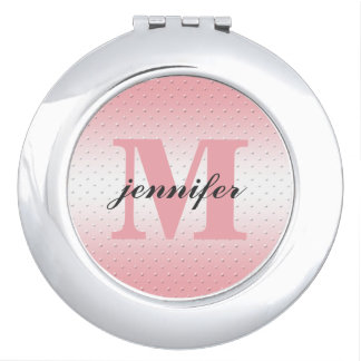 Personalized Monogram Compact Mirror