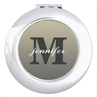 Personalized Monogram Compact Mirror
