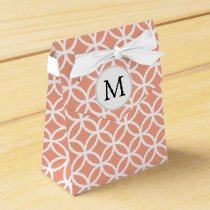 Personalized Monogram coral double rings pattern Favor Box