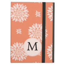 Personalized Monogram Coral Floral Pattern iPad Air Cases