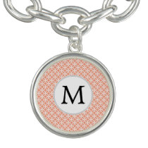 Personalized Monogram Coral rings pattern Bracelets