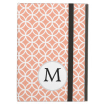 Personalized Monogram Coral rings pattern Cover For iPad Air