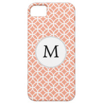 Personalized Monogram Coral rings pattern iPhone SE/5/5s Case