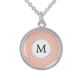 Personalized Monogram Coral rings pattern Jewelry