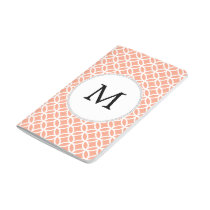 Personalized Monogram Coral rings pattern Journal