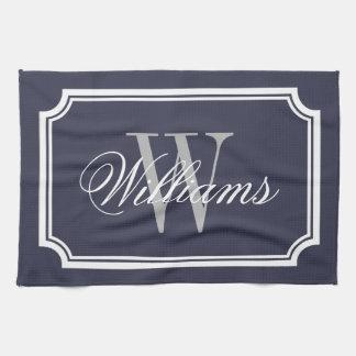 Personalized monogram cotton kitchen hand towels