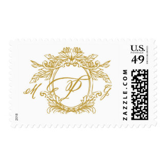 Personalized Monogram Crest Wedding Stamp