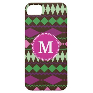 Personalized Monogram Custom Tribal Pattern iPhone 5 Cases