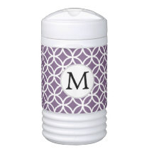 Personalized Monogram  Double Rings pattern Beverage Cooler