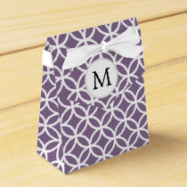 Personalized Monogram double rings pattern Favor Box