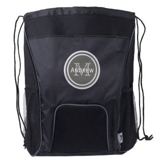 Personalized Monogram Drawstring Backpack