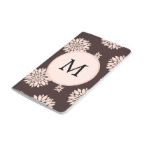 Personalized Monogram Ebony Coral Floral Pattern Journal
