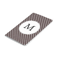 Personalized Monogram Ebony Polka dots Pattern Journal