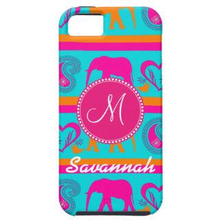 Personalized Monogram Elephant Teal iPhone 5 Case
