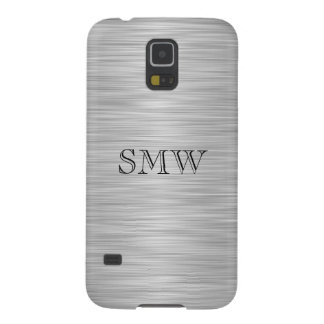 Personalized Monogram Faux Stainless Steel Case For Galaxy S5