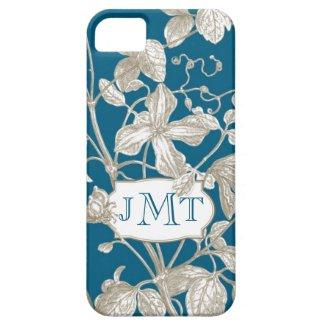 Personalized Monogram, Flowering Vine Botanical iPhone 5 Case