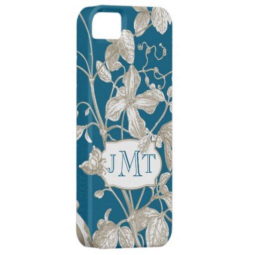 Personalized Monogram, Flowering Vine Botanical iPhone SE/5/5s Case