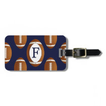Personalized Monogram Football Balls Sports Bag Tag