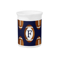 Personalized Monogram Football Balls Sports Beverage Pitcher