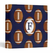 Personalized Monogram Football Balls Sports Binder