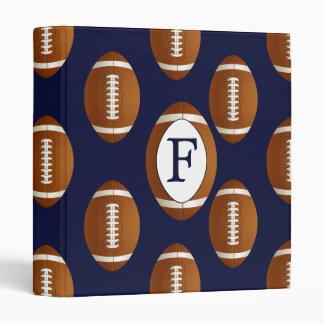 Personalized Monogram Football Balls Sports Binder