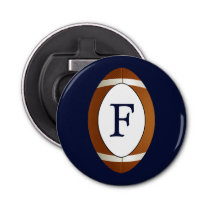 Personalized Monogram Football Balls Sports Bottle Opener